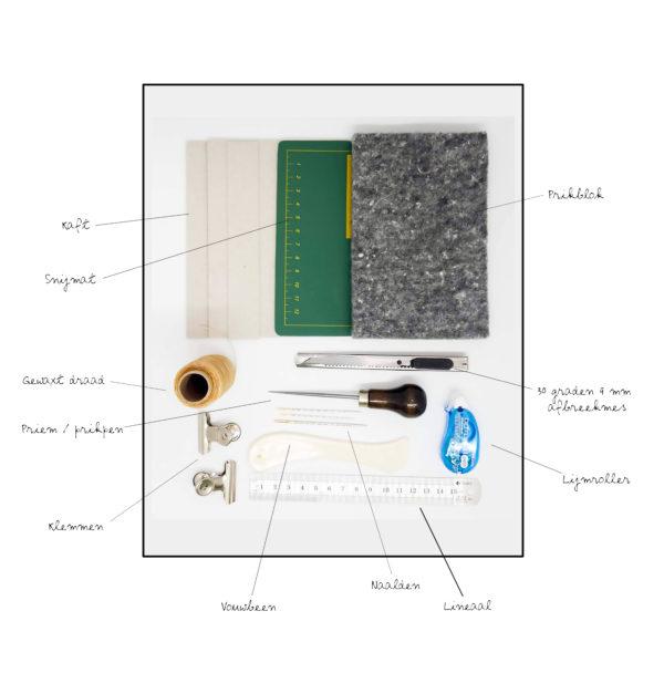 Boekbindset-diy-pakket-studiocoolijoelie-materialen