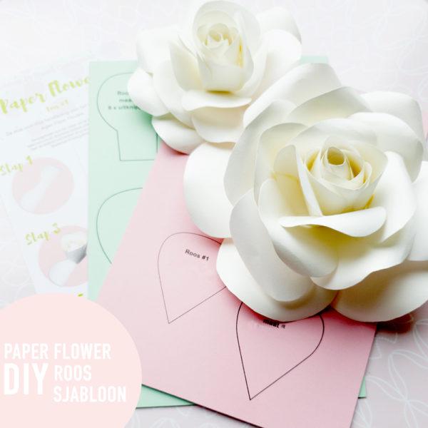Paperflowr-sjabloon -roos-studiocooliejoelie