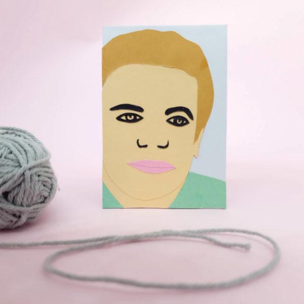 Paper portrait- workshop-Online-StudioCooliejoelie- papier-portret