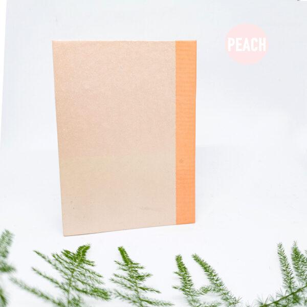 peach-handgebonden-boekje-schetsboek-notitieboek-a6-studiocooliejoelie