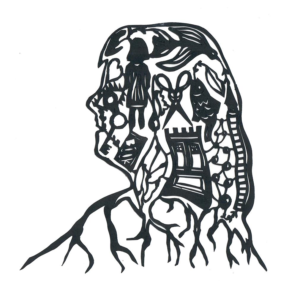 Studiocooliejoelie-zelfportret-karinmol-papiersnijkunst-portfolio